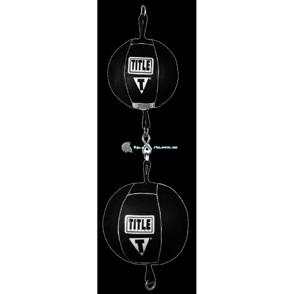 Пневмогруша двойная на растяжках TITLE Double Double End Bag