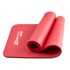 Коврик для йоги и фитнеса Hop-Sport 15 мм HS-N015GM Красный