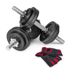Гантели Hop-Sport NEW 2 шт по 15 кг + перчатки