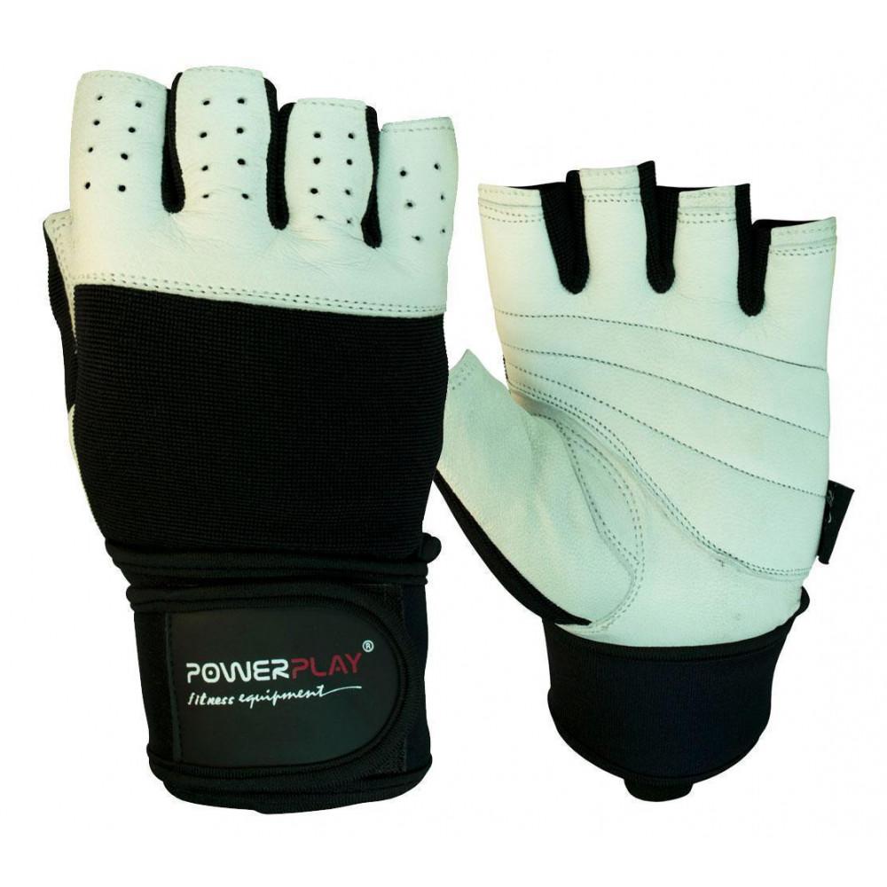 Перчатки для фитнеса PowerPlay 1069 Черно-белые S