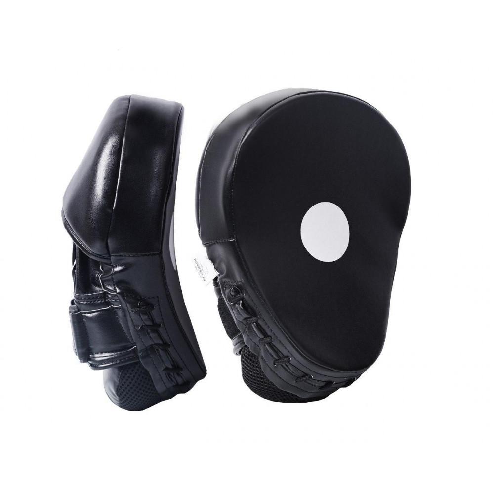 Боксерские Лапы PowerPlay 3041 Черные PU [пара]