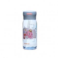 Бутылка для воды CASNO 400 мл KXN-1195 Серая (дельфин) с соломинкой