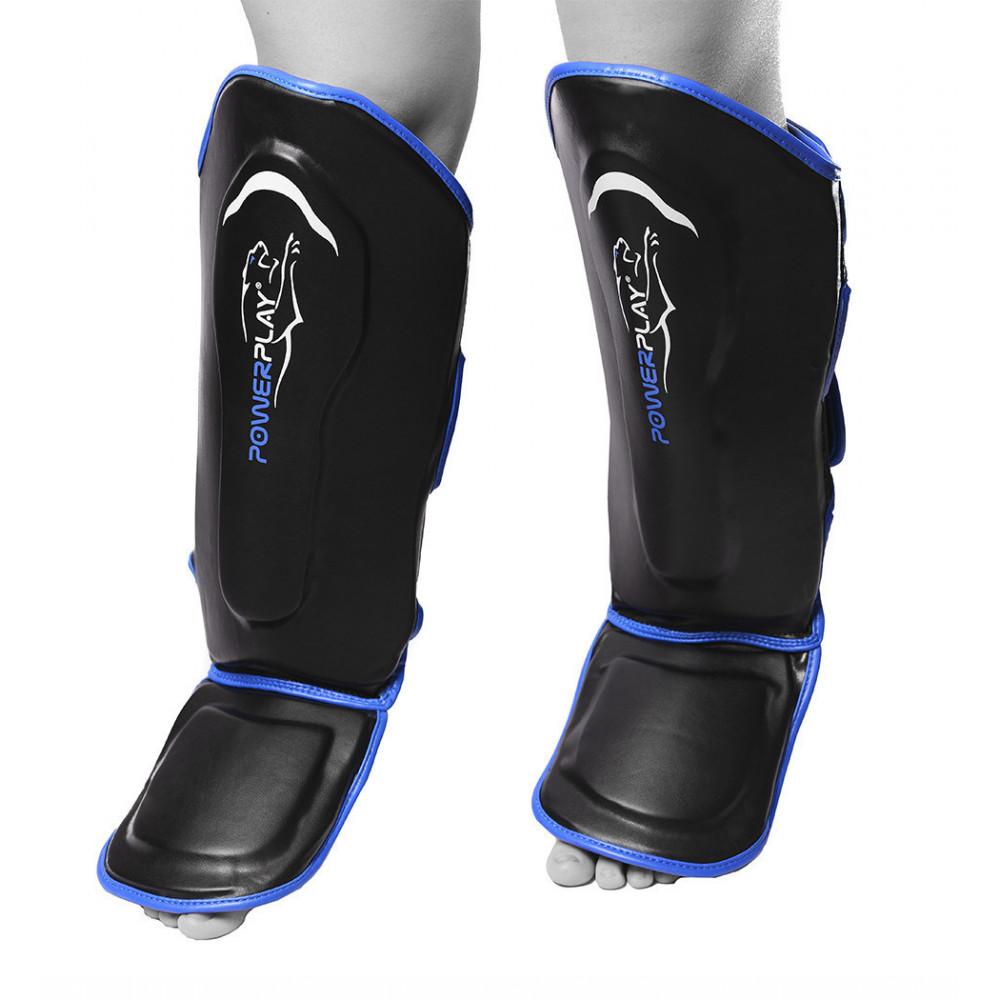 Защита голени и стопы PowerPlay 3052 Черно-Синий XL
