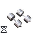 Гантели стальные RN Sport 2 шт по 42 кг