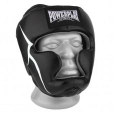 Боксерский шлем тренировочный PowerPlay 3066 PU + Amara S Черный