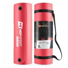 Мат для фитнеса с отверстиями HS-N015GM 1,5 см red