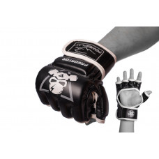 Перчатки для MMA PowerPlay 3056 А Черно-белые L