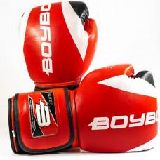 Боксерские перчатки BoyBo Elite кожа 10 OZ красн. SF3-33-10