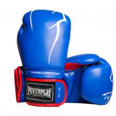 Боксерские перчатки PowerPlay 3018 Синие 12 унций