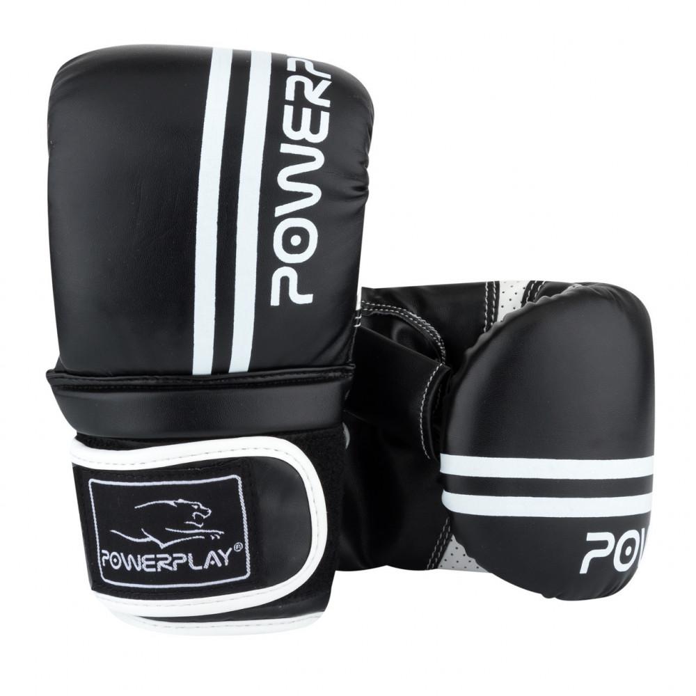 Снарядные перчатки PowerPlay 3025 Черно-белые L