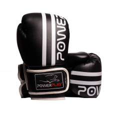 Боксерские Перчатки PowerPlay 3010 Черно-Белые 12 Унций