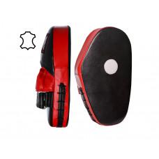 Боксерские Лапы PowerPlay 3063 Черно-красные Кожа [пара]