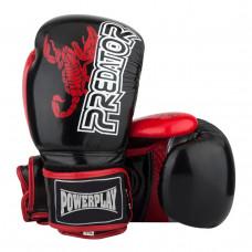 Боксерские Перчатки PowerPlay 3007 Черные Карбон 12 Унций