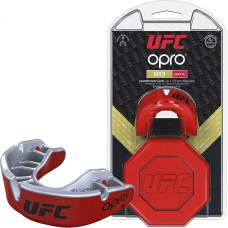 Капа OPRO Gold UFC Hologram Red Metal / Silver (art.002260002)