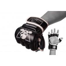Перчатки для MMA PowerPlay 3056 А Черно-белые XL