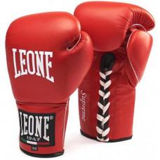 Боксерские перчатки Leone Supreme Red 10 ун.