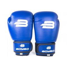 Боксерские перчатки BoyBo Basic 6 OZ (иск.кожа) син. SF1-44-06