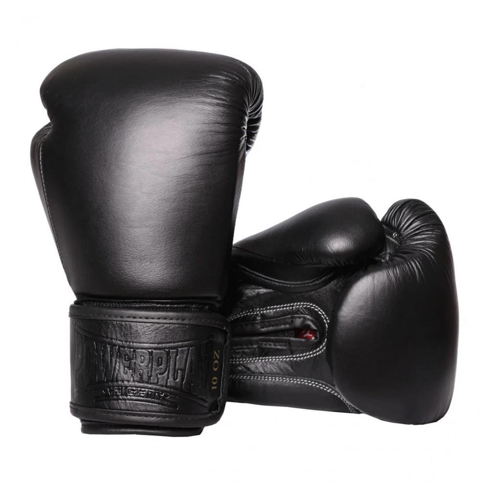 Боксерские Перчатки PowerPlay 3014 Черные 12 Унций