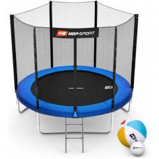 Батут Hop-Sport 8ft (244cm) blue с внешней сетью