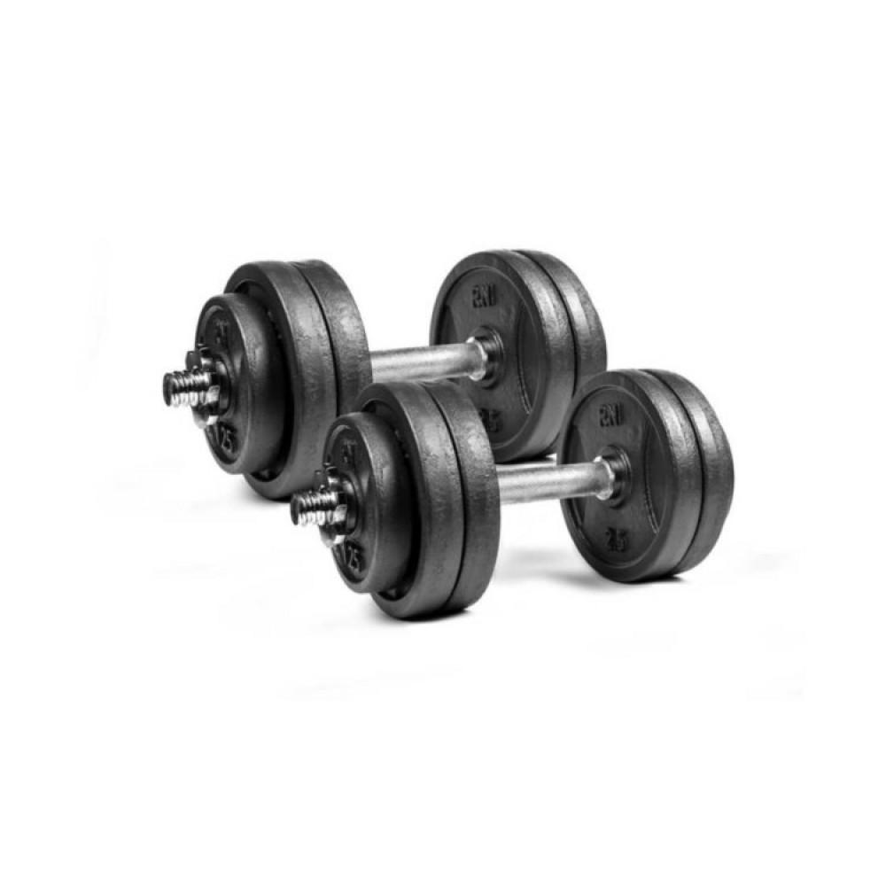 Гантели чугунные RN-Sport 2 шт по 13,5 кг