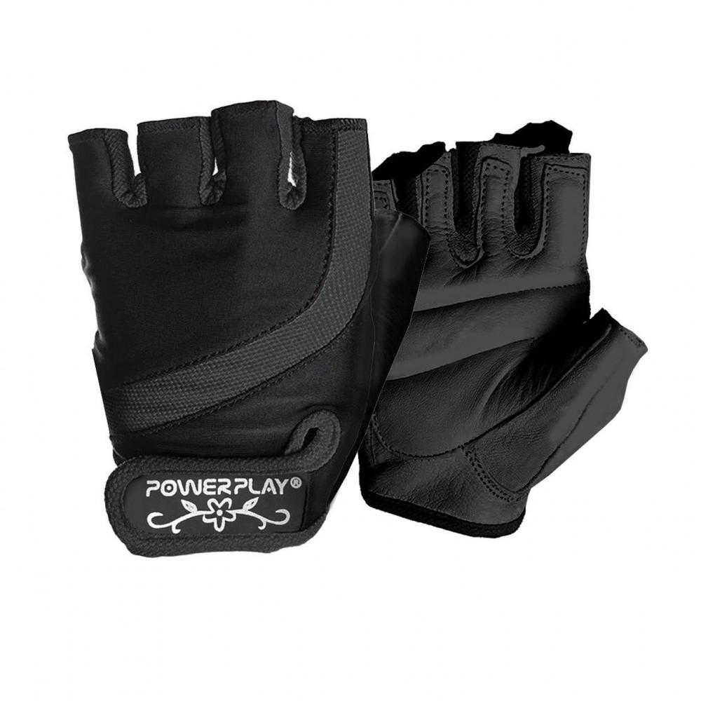 Перчатки для фитнеса PowerPlay 2311 женские Черные XS