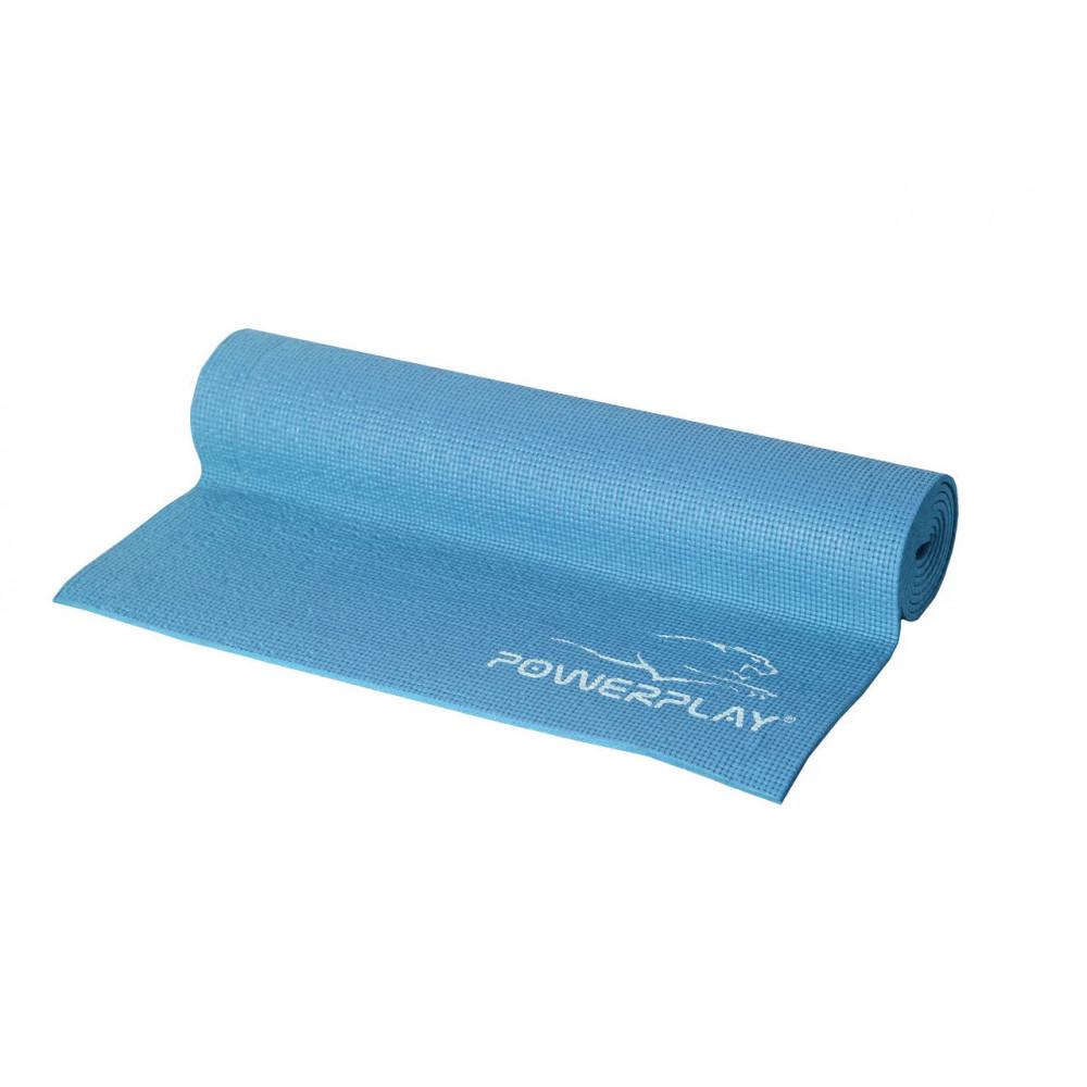Коврик для йоги и фитнеса PowerPlay 4010 голубой