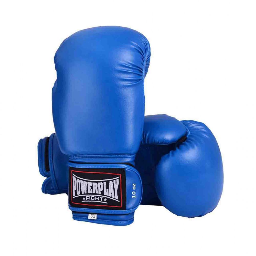 Боксерские Перчатки PowerPlay 3004 Синие 16 Унций