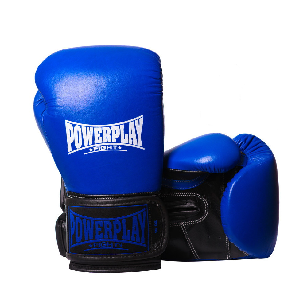 Боксерские Перчатки PowerPlay 3015 Синие 12 Унций