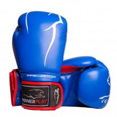 Боксерские перчатки PowerPlay 3018 Синие 14 унций