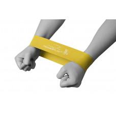 Фитнес резинка PowerPlay 4114 Light Желтая (500 * 50 * 0,6 мм.) - против 4,5 кг