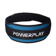 Пояс для тяжелой атлетики PowerPlay 5545 Сине-Черной (Неопрен) L