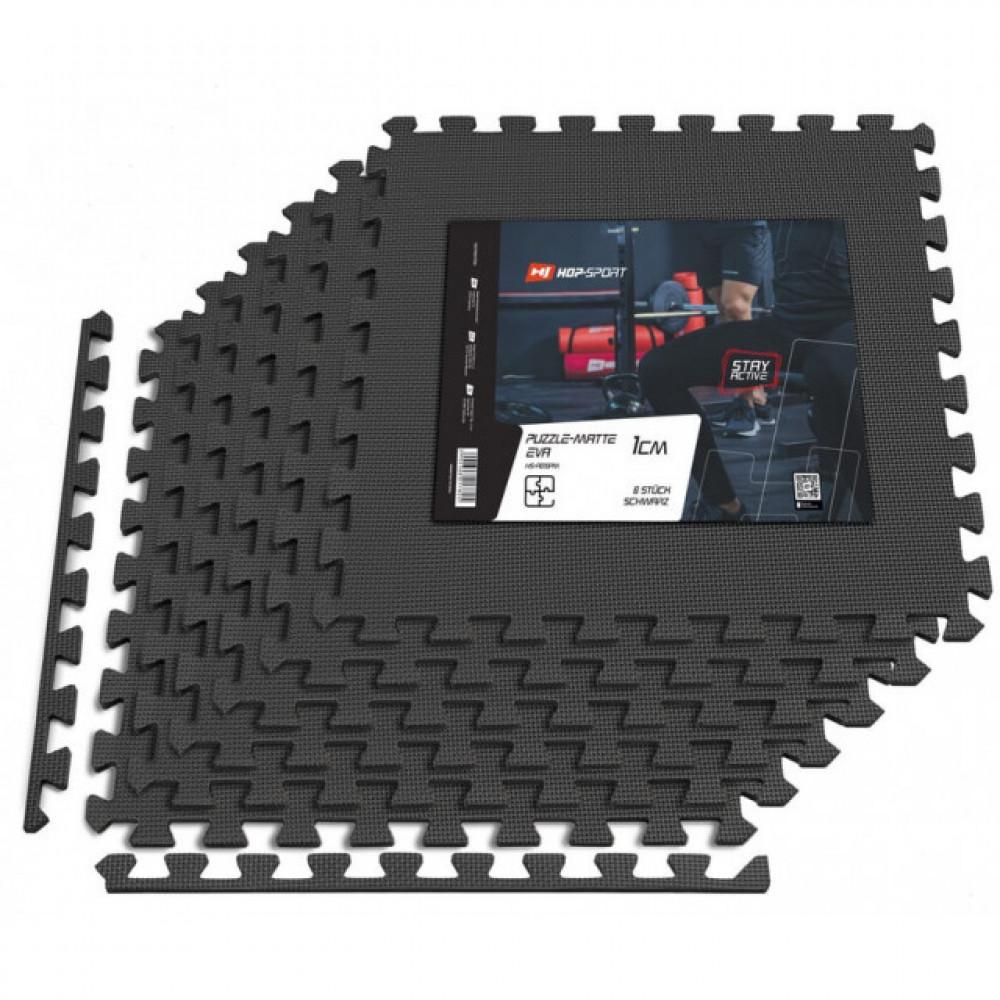 Мат-пазл EVA 1cm HS-A010PM - 6 частей черный