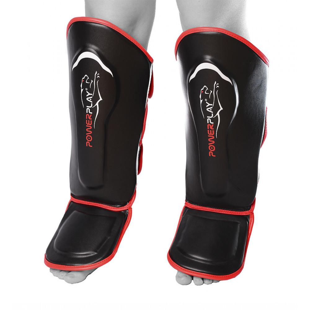 Защита голени и стопы PowerPlay 3052 Черно-Красный XL