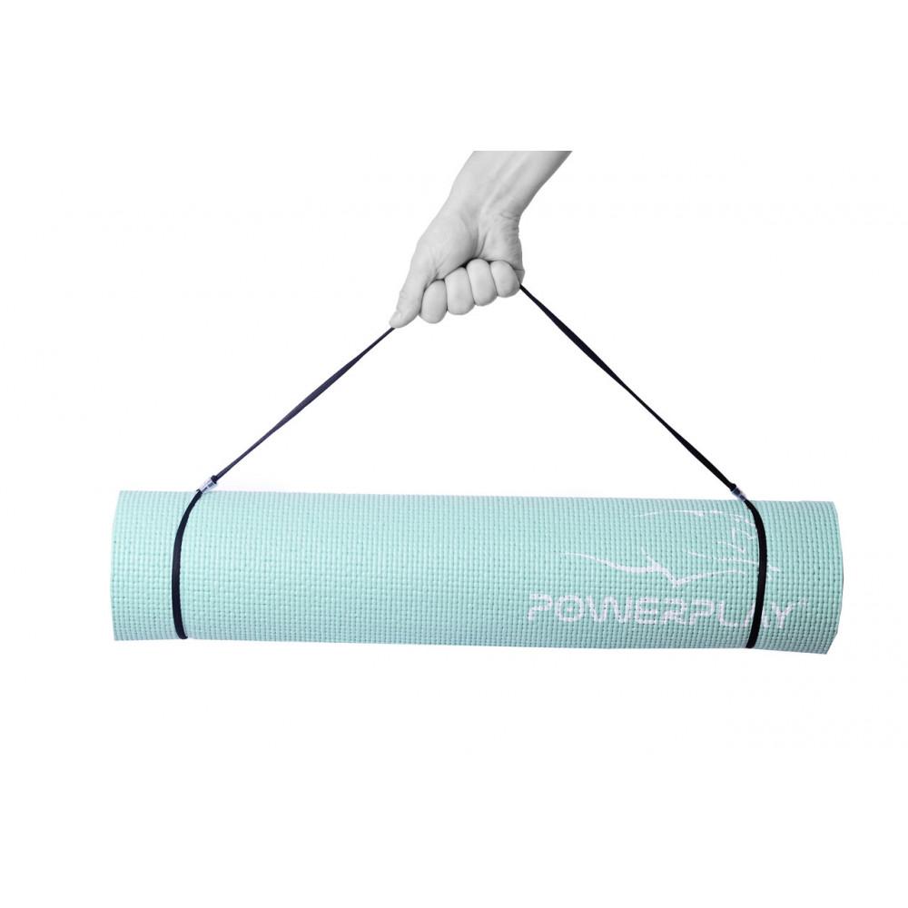 Коврик для фитнеса и йоги PowerPlay 4010 мятный