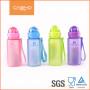 Бутылка для воды CASNO 400 мл MX-5028 More Love Розовая с соломинкой