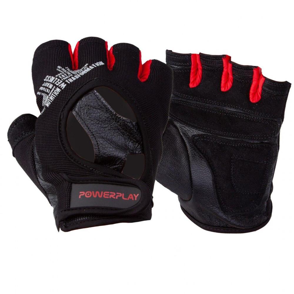 Перчатки для фитнеса PowerPlay 2222 Черные M