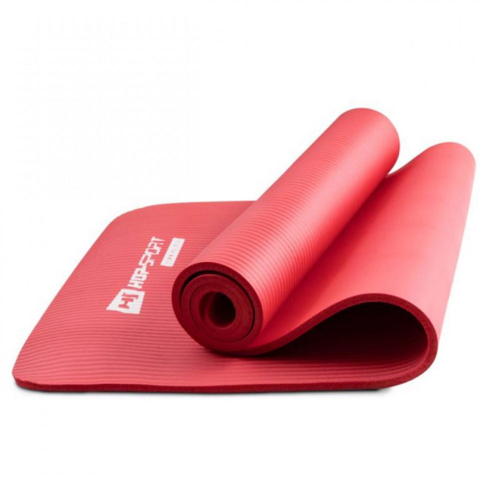 Коврик для йоги и фитнеса Hop-Sport HS-N010GM 10 мм Красный