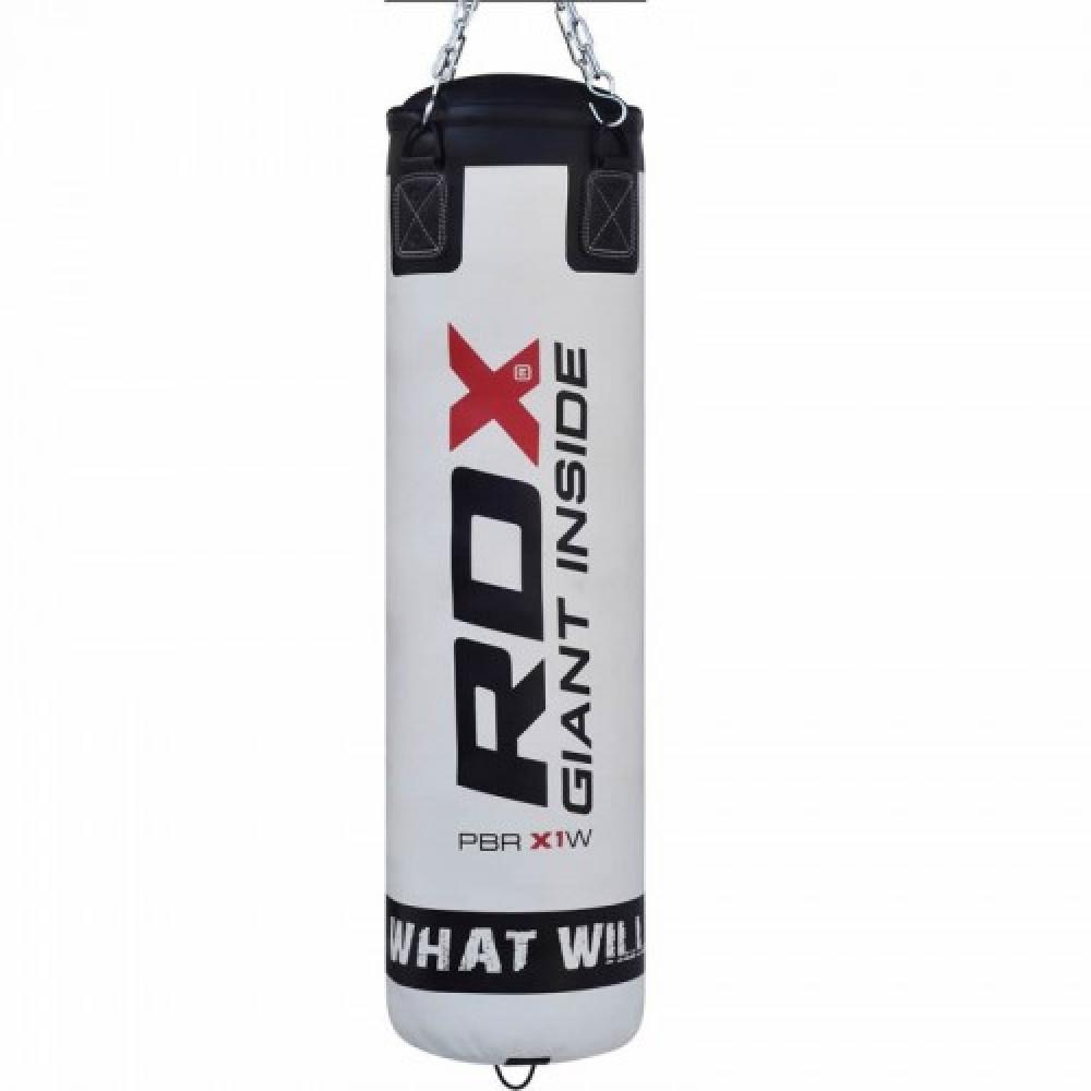 Боксерский мешок RDX Leather White 1.5м, 45-55кг