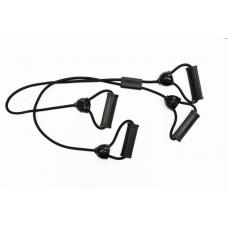 Эспандер резиновый с 4 ручками Evrotop. черн