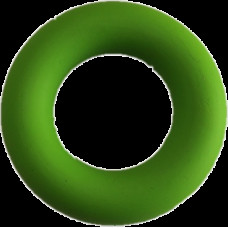 Эспандер кольцо кистевой Evrotop, салат, D9см