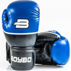 Боксерские перчатки BoyBo Ultra к/з 8 OZ син. SF5-44-08