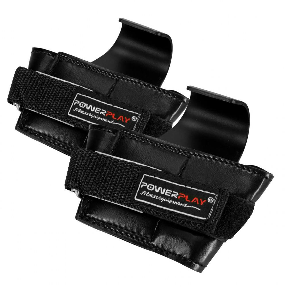 Крюки для тяги на запястья PowerPlay 7055 Черные
