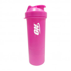 Shaker ON 3 in 1 with metal ball (600 ml, pink)