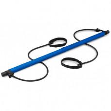 Палка тренировочная сложная с эспандерами Hop-Sport HS-T090GS синяя