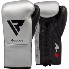 Боксерские перчатки RDX Leather Pro A3 Silver 10 ун.
