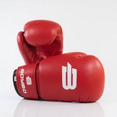 Боксерские перчатки BoyBo Basic к/з 10 OZ красн. SF1-43-10