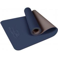 Коврик для йоги и фитнеса PowerPlay 4150 Premium TPE 183 * 61 * 0.6 см Синий