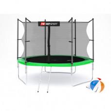Батут Hop-Sport 10ft (305cm) green с внутренней сеткой 3 ноги