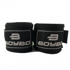 Боксерский бинт BoyBo 2,5м (хлопок) черн. 2шт 2,5 метра