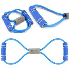 Еспандер резиновий з рукоятками синій
